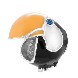 Chamilia Toucan Tango Sterling Silver & Enamel Charm - Product number 4370945