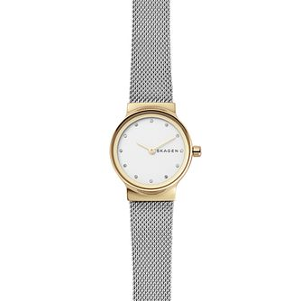 Skagen Freja Ladies' Two Colour Stone Set Bracelet Watch - Product number 4372387