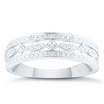 9ct White Gold Diamond Eternity Ring - Product number 4372786
