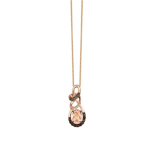 Le Vian 14ct Strawberry Gold Peach Morganite Pendant - Product number 4377109