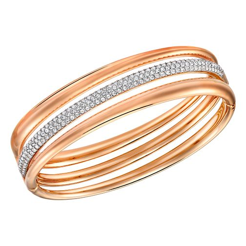 Swarovski Exact Rose Gold Plated Bangle Size M - Product number 4378911