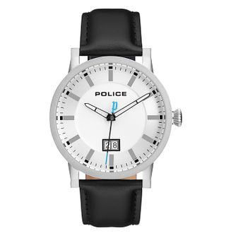 Police Collin Men's Black Leather Strap Watch - Product number 4379020