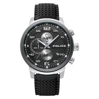 Police Bromo Men's Black Silicone Strap Watch - Product number 4379403