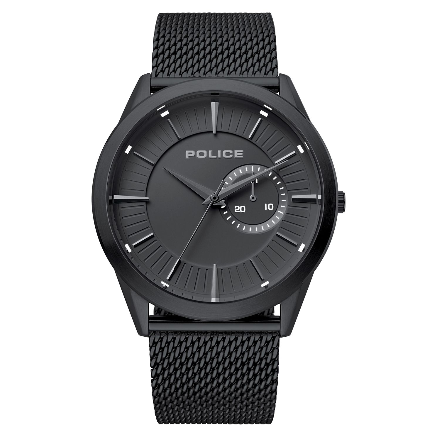 Police Helder Men's Black Stainless Steel Bracelet Watch - Product number 4379462