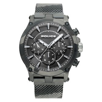 Police Taman Men's Camo Stainless Steel Mesh Bracelet Watch - Product number 4379535
