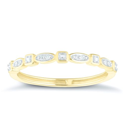 9ct Yellow Gold Diamond Eternity Ring - Product number 4379713
