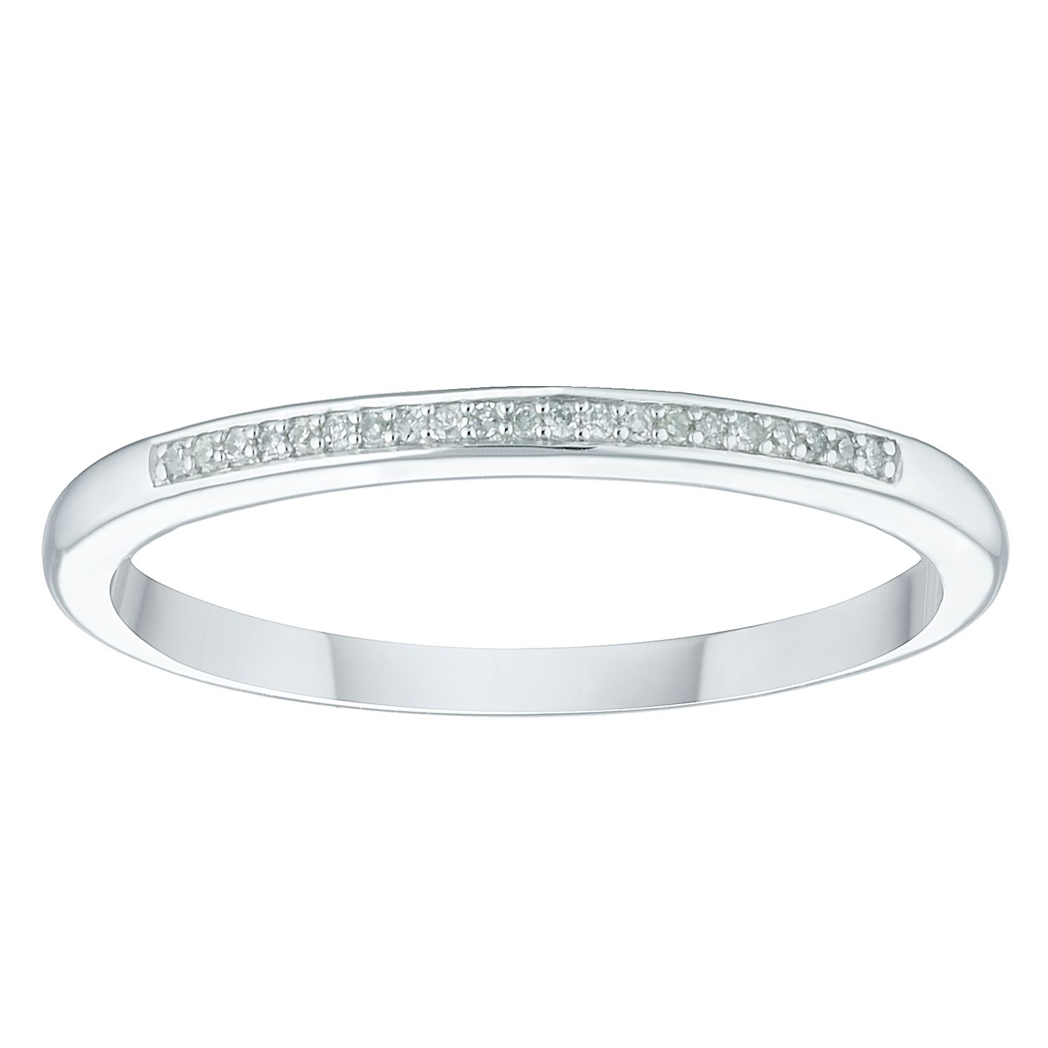 9ct White Gold Diamond Eternity Ring - Product number 4379977