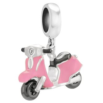Chamilia Mini Moto Sterling Silver & Pink Enamel Charm - Product number 4381319