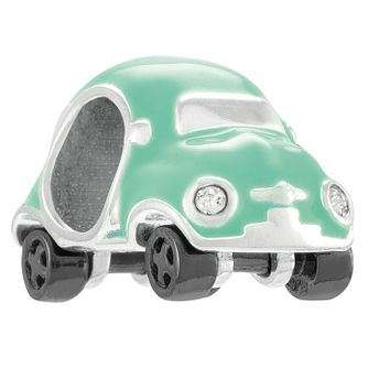 Chamilia Mini Racer Sterling Silver & Mint Enamel Charm - Product number 4383168