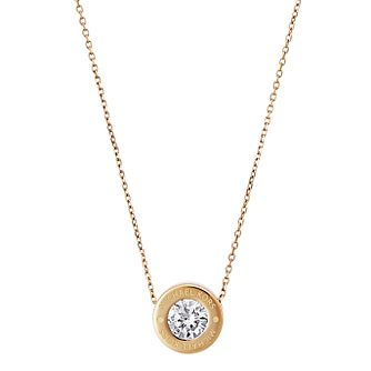 Michael Kors Gold Tone Logo Crystal Necklace - Product number 4384970