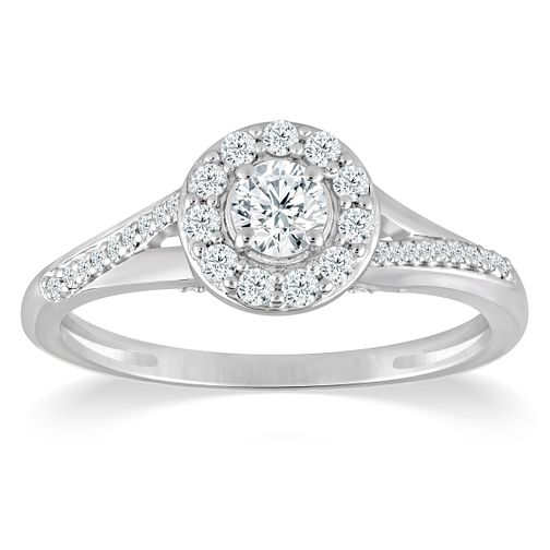 9ct White Gold 2/5ct Diamond Ring - Product number 4386795