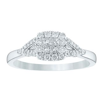 Princessa 9ct White Gold 1/3ct Diamond Ring - Product number 4391810