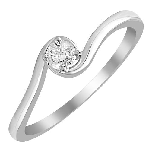 9ct White Gold 0.15ct Diamond Solitaire Ring - Product number 4395344