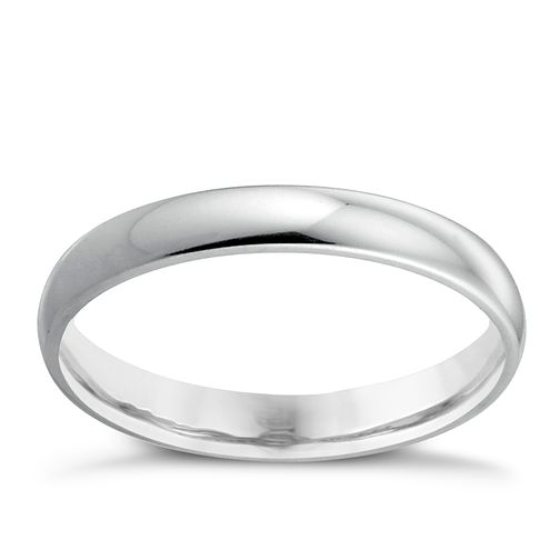 18ct White Gold 3mm Extra Heavy Court Ring - Product number 4399285