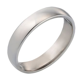 18ct White Gold 4mm Extra Heavy Court Ring - Product number 4399404