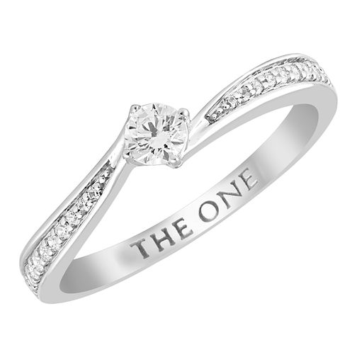 The One 9ct White Gold 1/4ct Diamond Solitaire Ring - Product number 4400348