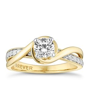 18ct Yellow Gold 3/4ct Forever Diamond Solitaire Ring - Product number 4400836