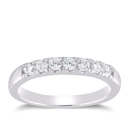 Platinum 1/2ct Forever Diamond Claw Set Eternity Ring - Product number 4401018