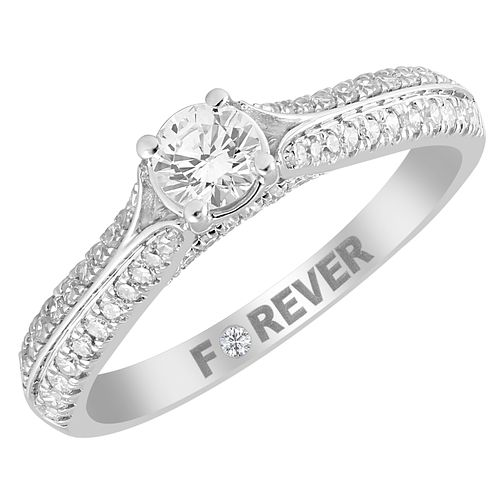 18ct White Gold 1/2ct Forever Diamond Solitaire Ring - Product number 4401697