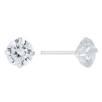 cc67ff786 Sterling Silver 7mm Cubic Zirconia Stud Earrings - Product number 4402871