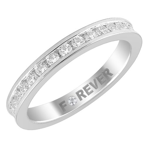 Palladium 0.58ct Forever Diamond Eternity Ring - Product number 4403886