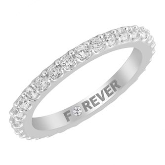 18ct White Gold 0.58ct Forever Diamond Eternity Ring - Product number 4404645