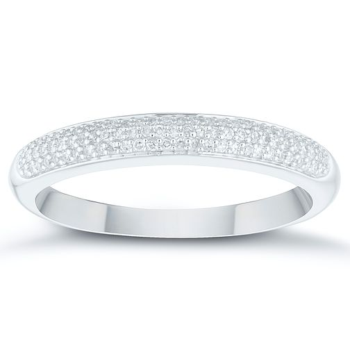 9ct White Gold 0.12ct Diamond Pave Eternity Ring - Product number 4409531