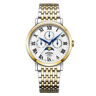 Rotary Windsor Men's Two-Tone Bracelet Watch - Product number 4410157