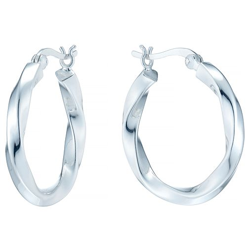 Sterling Silver Twist Medium Creole Earrings - Product number 4410505