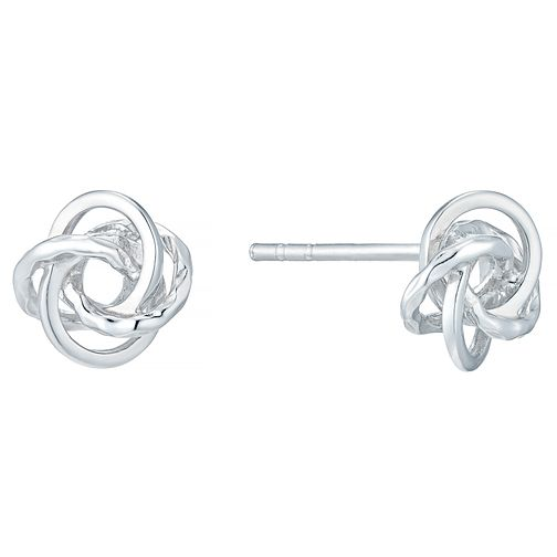 1667670fa Sterling Silver Fancy Knot Stud Earrings - Product number 4410637
