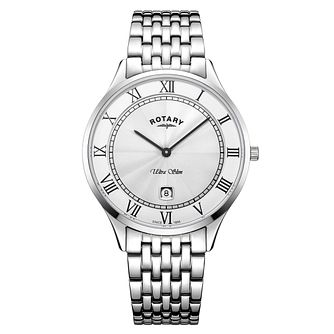 Rotary Ultra Slim Men's Stainless Steel Bracelet Watch - Product number 4410696