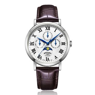 Rotary Exclusive Windsor Men's White Dial Strap Watch - Product number 4411382