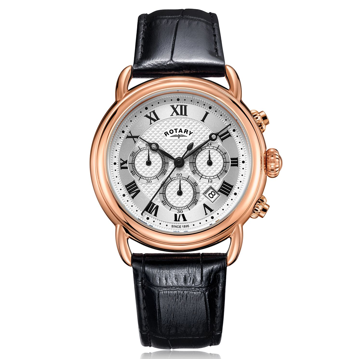 Rotary Exclusive Canterbury Men's Black Leather Strap Watch - Product number 4411501