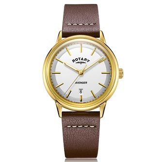 Rotary Exclusive Avenger Men's Brown Leather Strap Watch - Product number 4412001