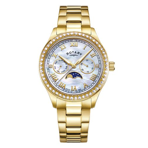 Rotary Ladies' Mother of Pearl Dial Gold Plated Watch - Product number 4412907
