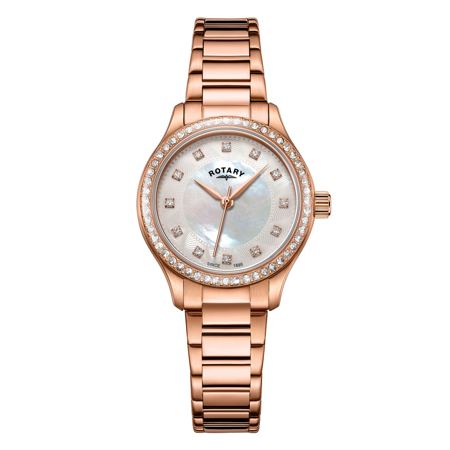Rotary Exclusive Ladies' Rose Gold Bracelet Watch - Product number 4412915