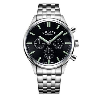Rotary Men's Stainless Steel Bracelet Chronograph Watch - Product number 4413547