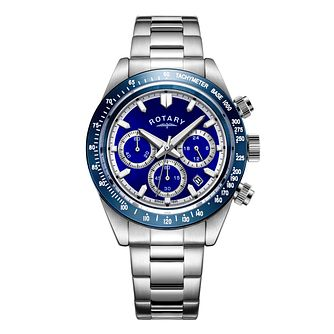 Rotary Men's Stainless Steel Bracelet Chronograph Watch - Product number 4413563