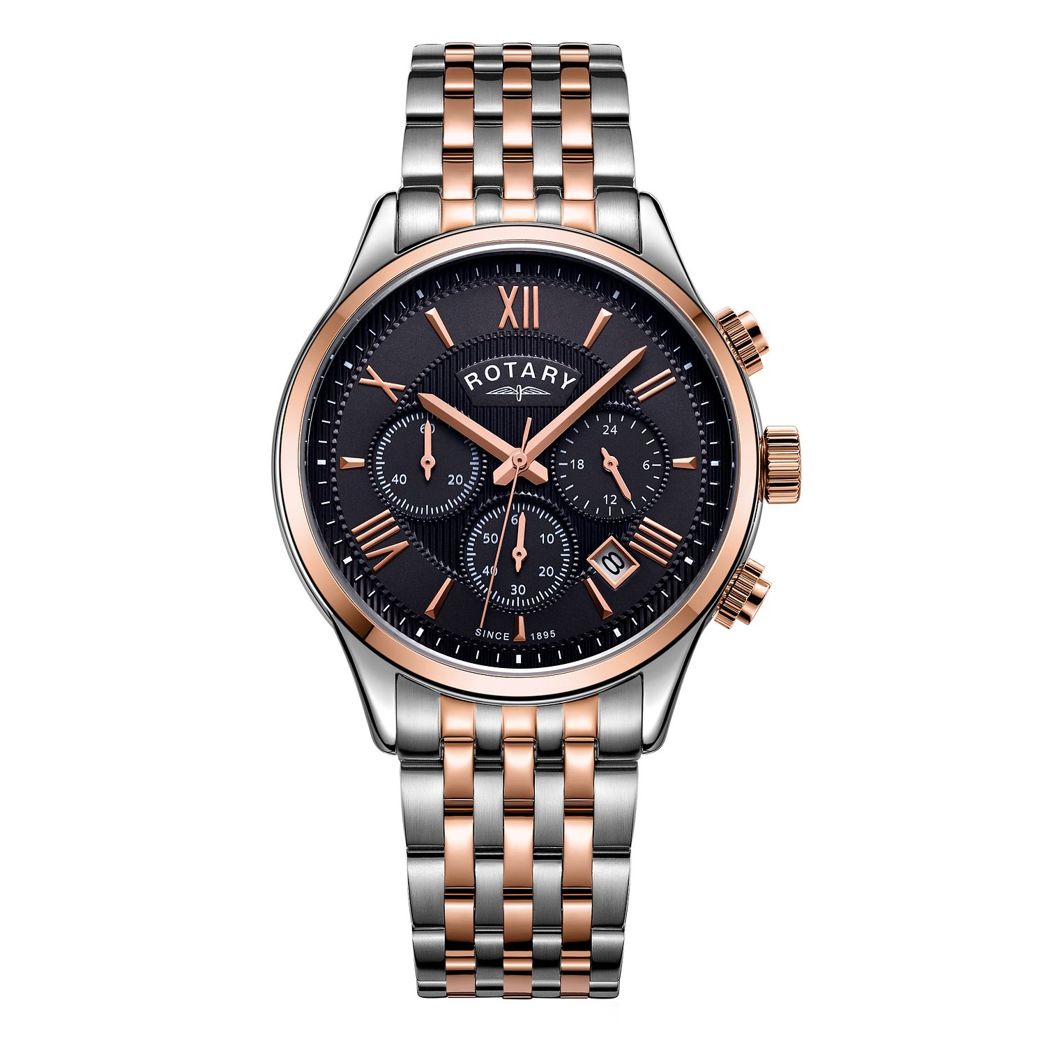 Rotary Men's Two Tone Steel Bracelet Chronograph Watch - Product number 4413709