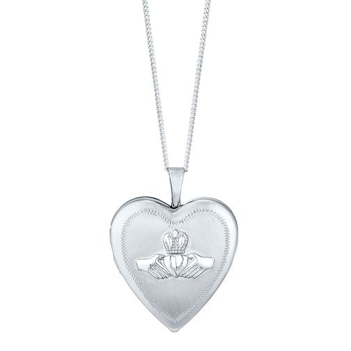 Sterling Silver Claddagh Heart Locket - Product number 4415116