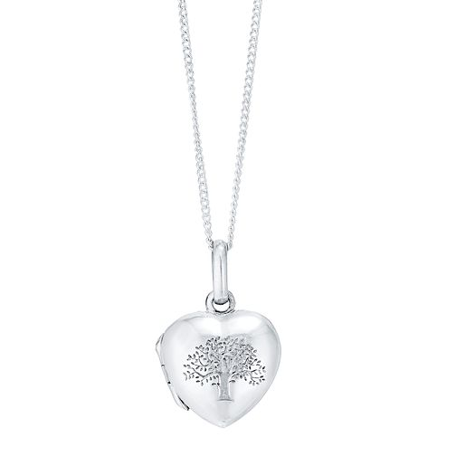 Sterling Silver Tree Of Life Design Heart Locket - Product number 4415124