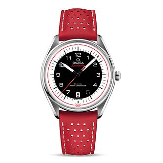 Omega Seamaster Red Olympic Strap Watch - Product number 4415671