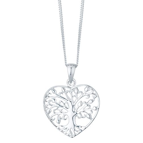 Sterling Silver Tree Of Life Design Heart Pendant - Product number 4416317