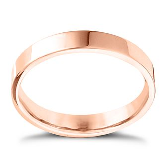 9ct Rose Gold Extra Heavy Flat Court 2mm Ring - Product number 4416511