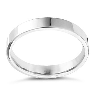 9ct White Gold Extra Heavy Flat Court 2mm Ring - Product number 4417054