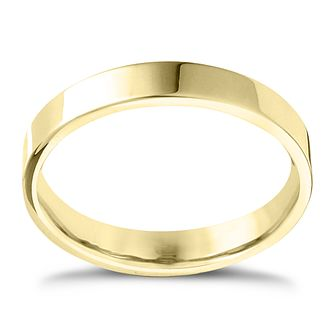 9ct Yellow Gold Extra Heavy Flat Court 2mm Ring - Product number 4417305
