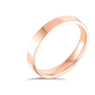 9ct Rose Gold Extra Heavy Flat Court 3mm Ring - Product number 4417453