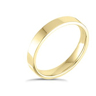 9ct Yellow Gold Extra Heavy Flat Court 3mm Ring - Product number 4418336