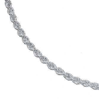 Sterling Silver 18 Inch Large Hollow Rope Chain - Product number 4419235