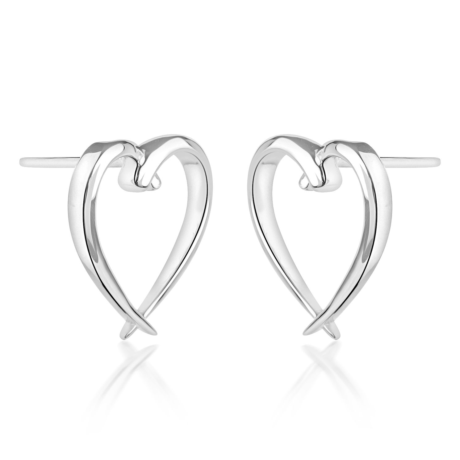Rachel Galley Silver 925 Molto Kiss Heart Stud Earrings - Product number 4419294